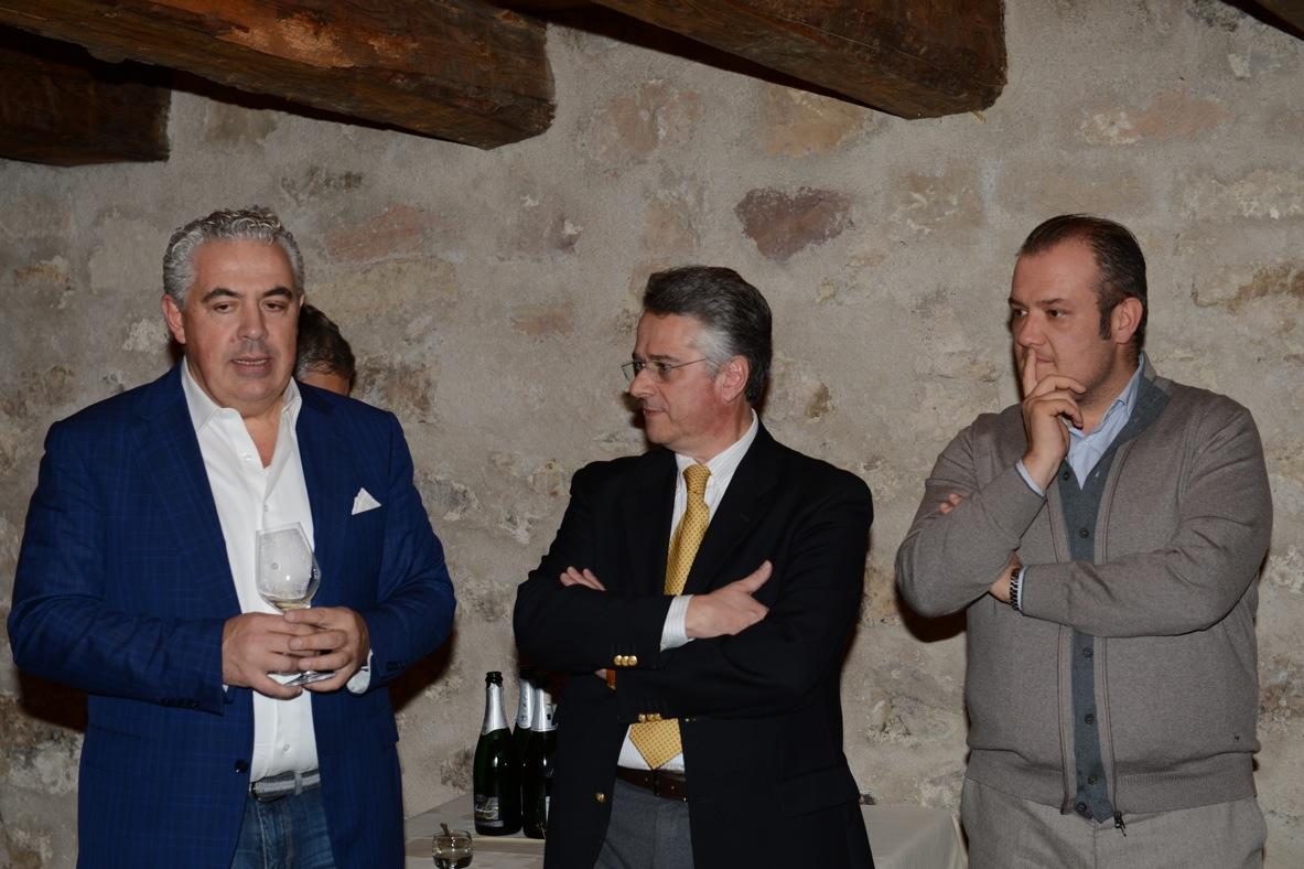 Luciano Rappo e i responsabili dell'Azienda Le Marchesine